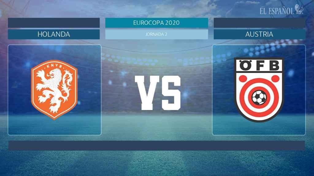 Horario internacional y dónde ver el Países Bajos - Austria de la Eurocopa 2020