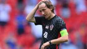 Luka Modric en un partido con Croacia