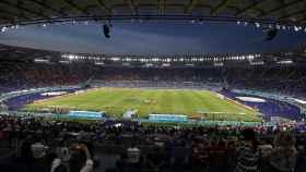 Estadio Olímpico de Roma antes del Italia - Suiza