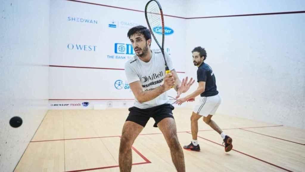 Iker Pajares, durante un partido de squash