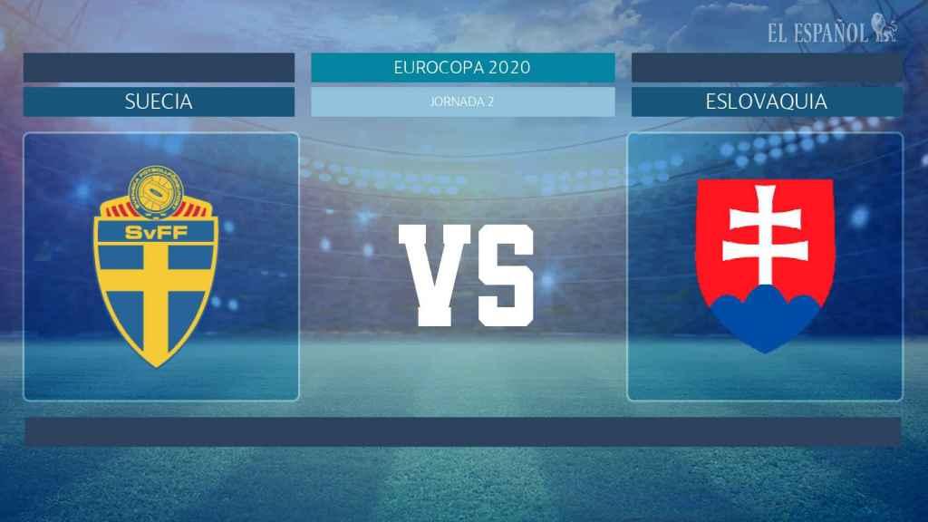 Cartel del partido Suecia - Eslovaquia de la Eurocopa 2020