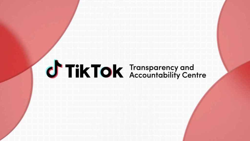 Logo del Centro Europeo de Transparencia y Responsabilidad (TAC) de TikTok