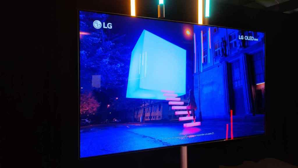 El televisor LG G1 con panel OLED evo.