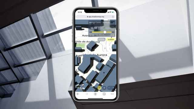 Shadowmap ejecutándose en un iPhone 11.