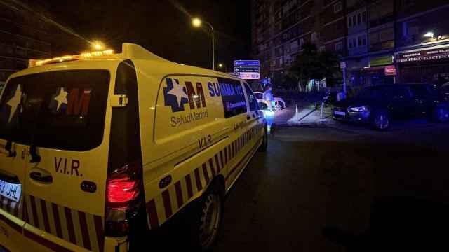 Efectivos del Summa 112 atienden un suceso en Madrid.