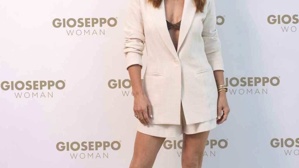 Elsa Pataky, durante la presentación de una colección de Gioseppo en Madrid.