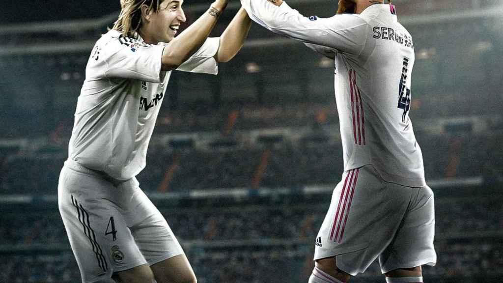El fotomontaje del Real Madrid con Sergio Ramos hace 16 años y ahora