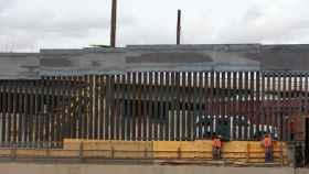El muro en la frontera de Texas.