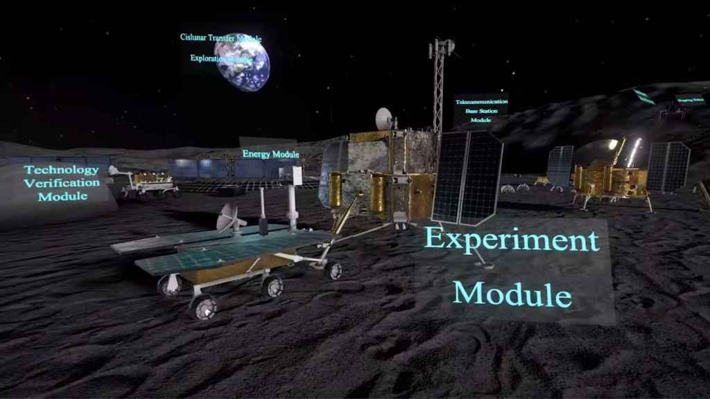 Elementos de la base lunar