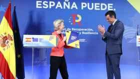 Ursula von der Leyen entregó a Pedro Sánchez su evaluación del plan de reformas el miércoles