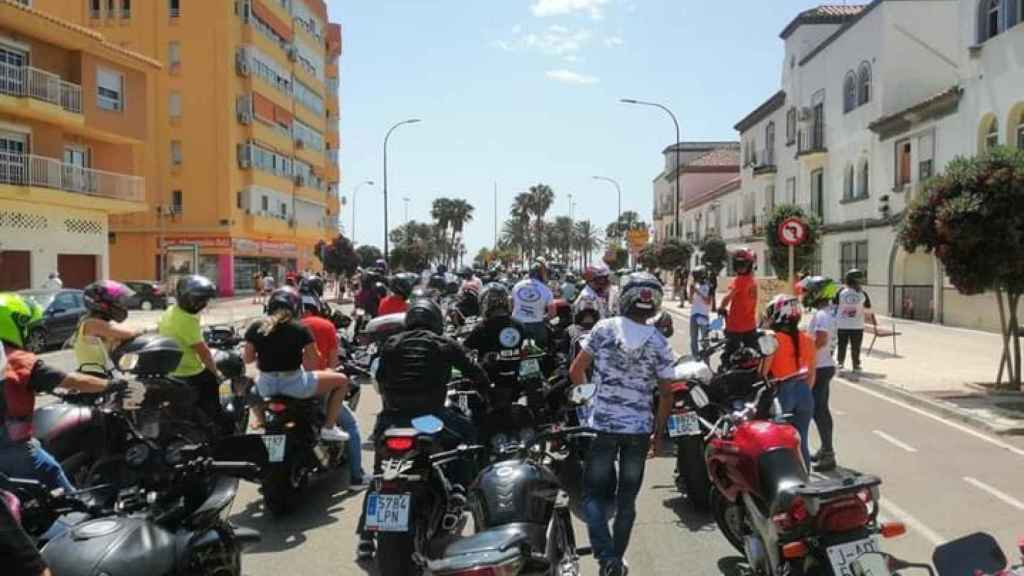 Moteros durante la manifestación del pasado 13 de junio