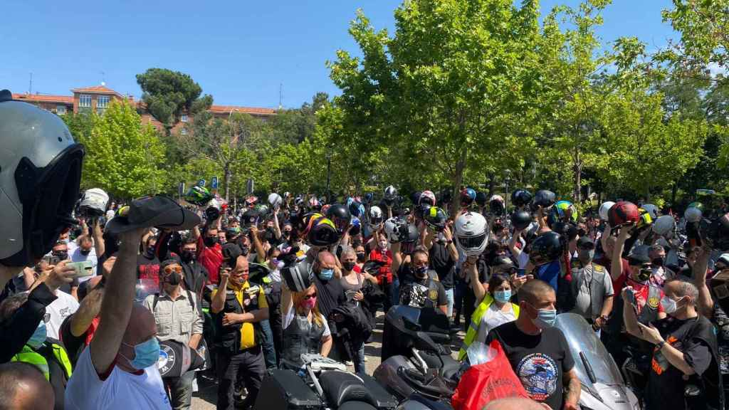 Hubo cisma entre los moteros por la protesta en un día lúdico.