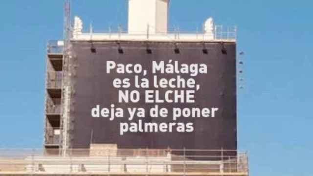 El meme sobre palmeras, visto en Twitter.