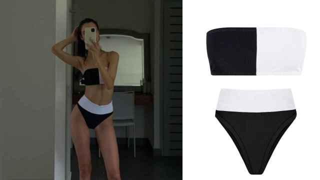 Blanca Padilla tiene el bikini bicolor que más estiliza y define la silueta.