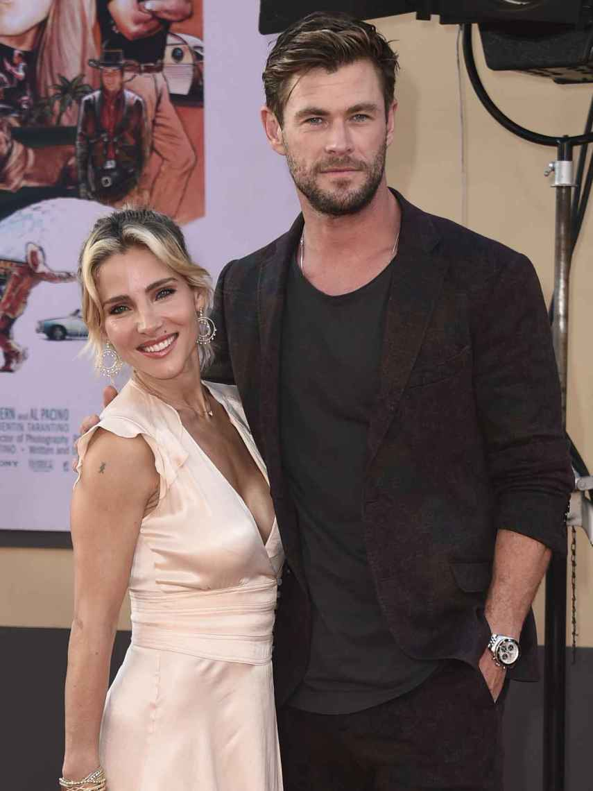Elsa Pataky y Chris Hemsworth, durante la presentación de una película en Los Ángeles.