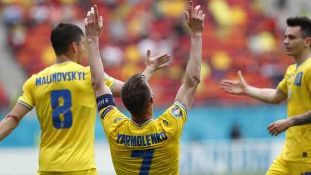 Yarmolenko celebra su gol ante Macedonia