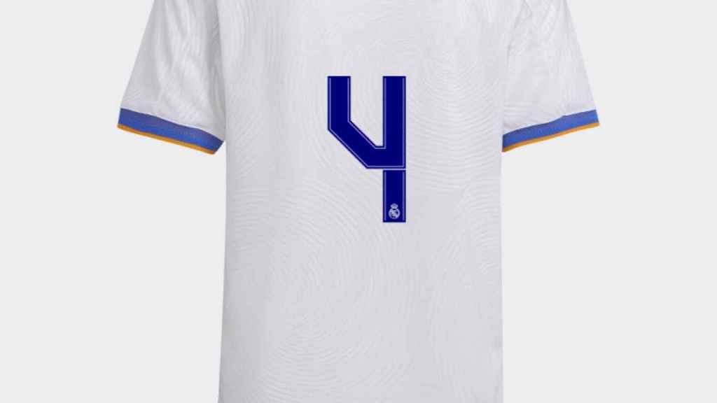 Camiseta de David Alaba con el '4'