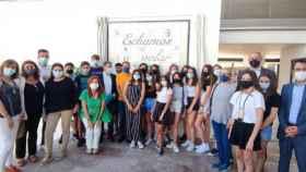 Estreno del mural construido en cerámica por alumnos del IES 'Padre Juan de Mariana' de Talavera