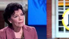 La ministra de Educación y Formación Profesional, Isabel Celaá, este jueves en TVE