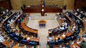 La Asamblea de Madrid durante el discurso de investidura de Isabel Díaz Ayuso.