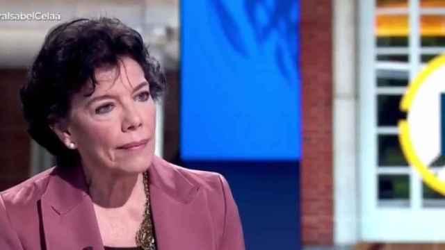 La ministra de Educación y Formación Profesional, Isabel Celaá, este jueves en TVE.