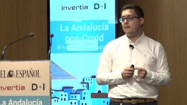 Óscar Cáceres, CEO de Oslice, durante la participación de la startup en el Deep Day del I Foro Económico 'La Andalucía pos-Covid' del 17 de junio.