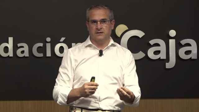 Pedro Carrillo, CEO de Ec2ce, durante su participación en el 'Deep Day' del 17 de junio dentro de la última jornada del I Foro Económico de Andalucía.