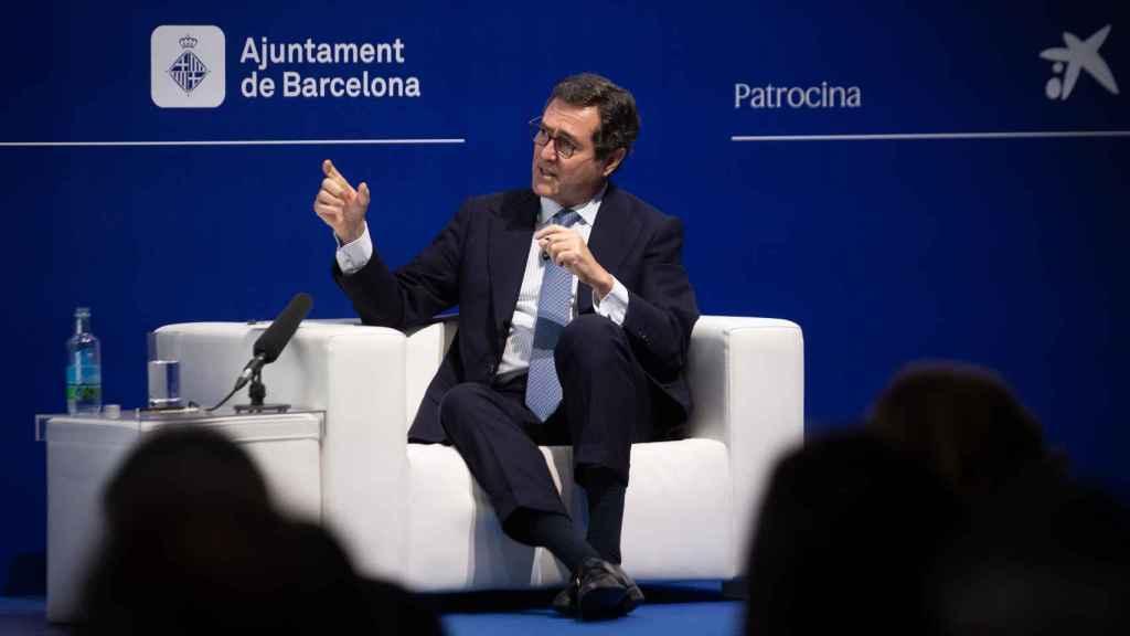 El presidente de la CEOE, Antonio Garamendi, en el Cercle.