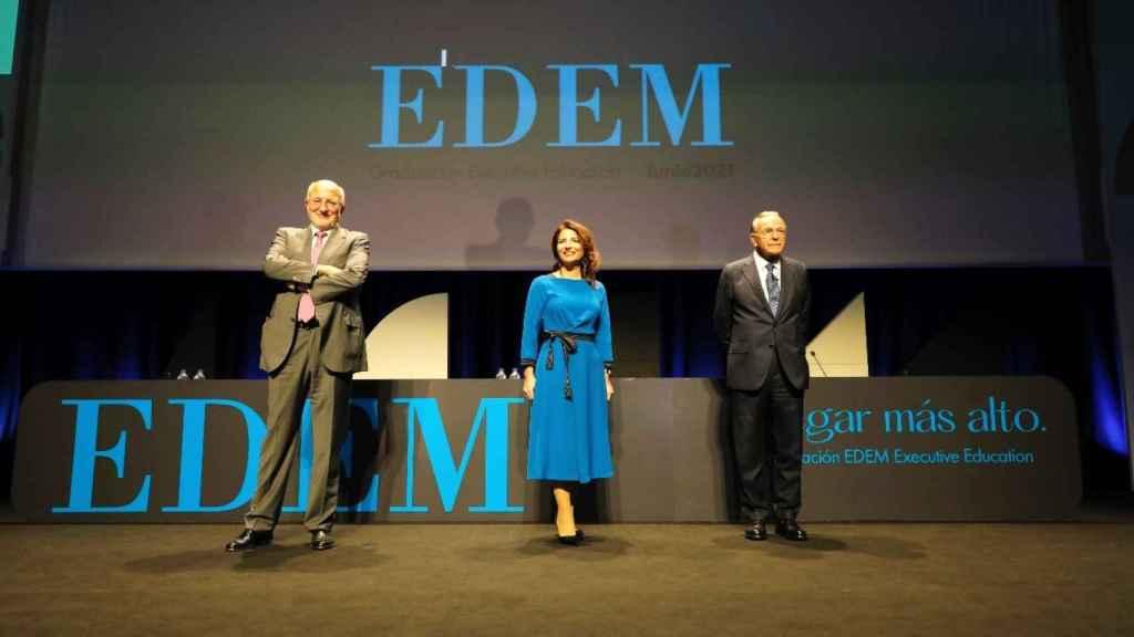 Juan Roig, Hortensia Roig e Isidro Fainé. EE