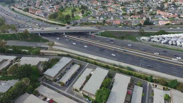 Vista aérea de una de las autopistas de OHL en Estados Unidos.