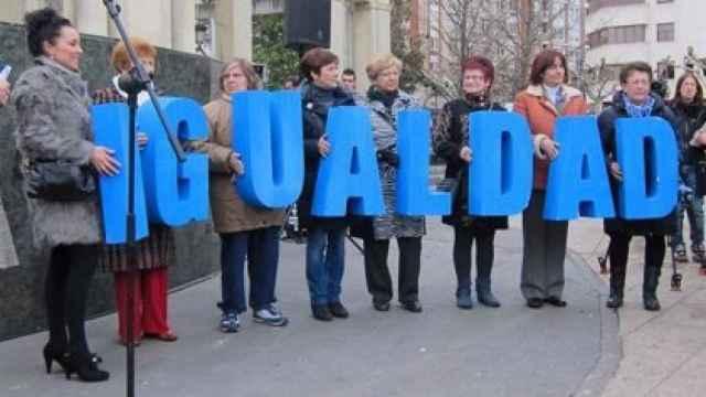 Un grupo de mujeres por la igualdad.