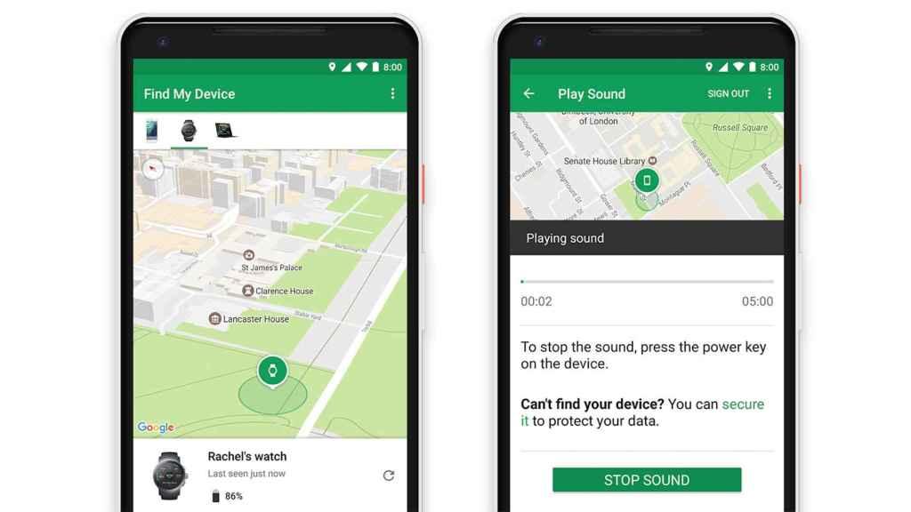 La app Encuentra mi dispositivo de Google Play