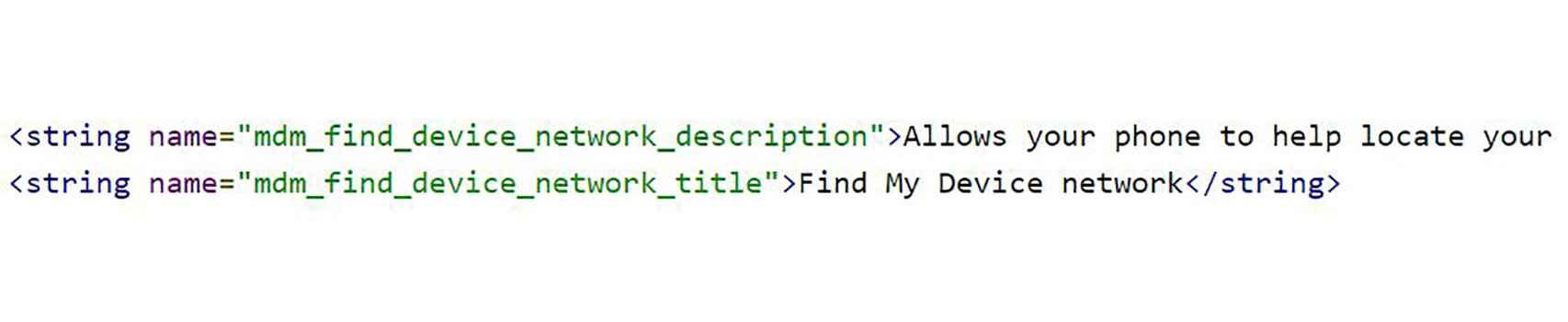 Líneas de código en la APK de Servicios de Google Play