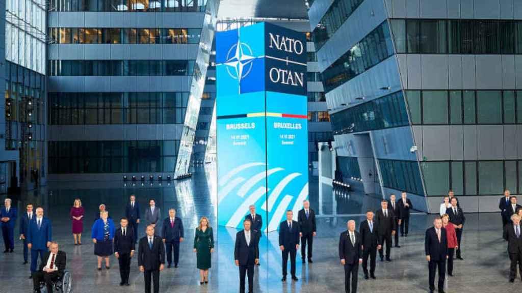 Instante de la cumbre entre EEUU y Europa.
