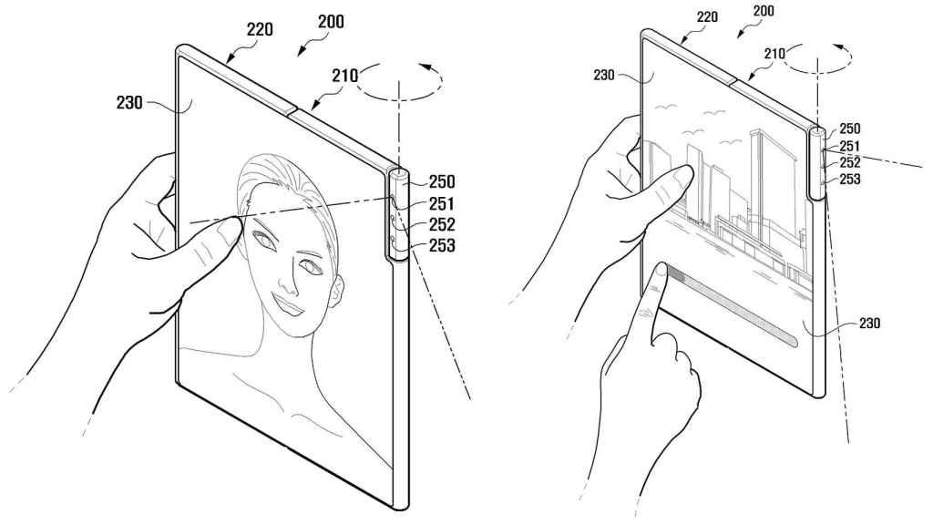 La cámara giratoria serviría para selfis y para tomas traseras.