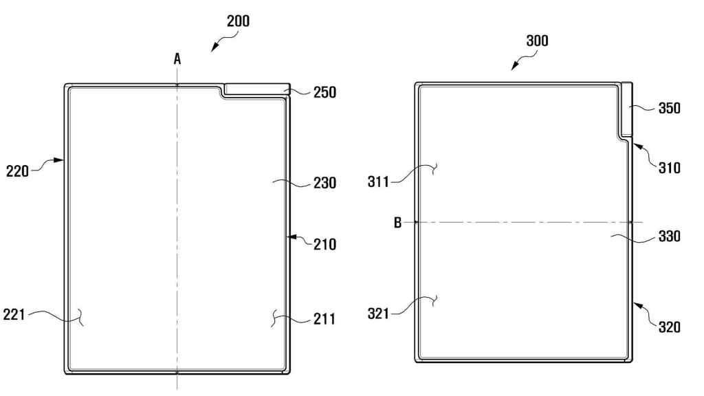Recuerda ciertamente al 'recorte' del primer Samsung Galaxy Fold.