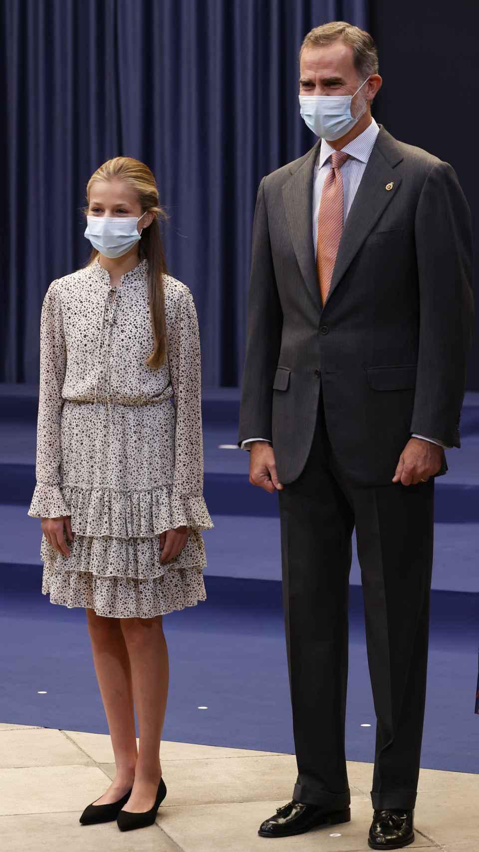 Felipe VI y Leonor en los Princesa de Asturias.