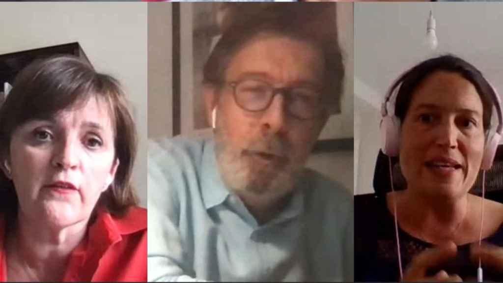 Paloma Díaz, Enrique Villalba e Iria Estévez.