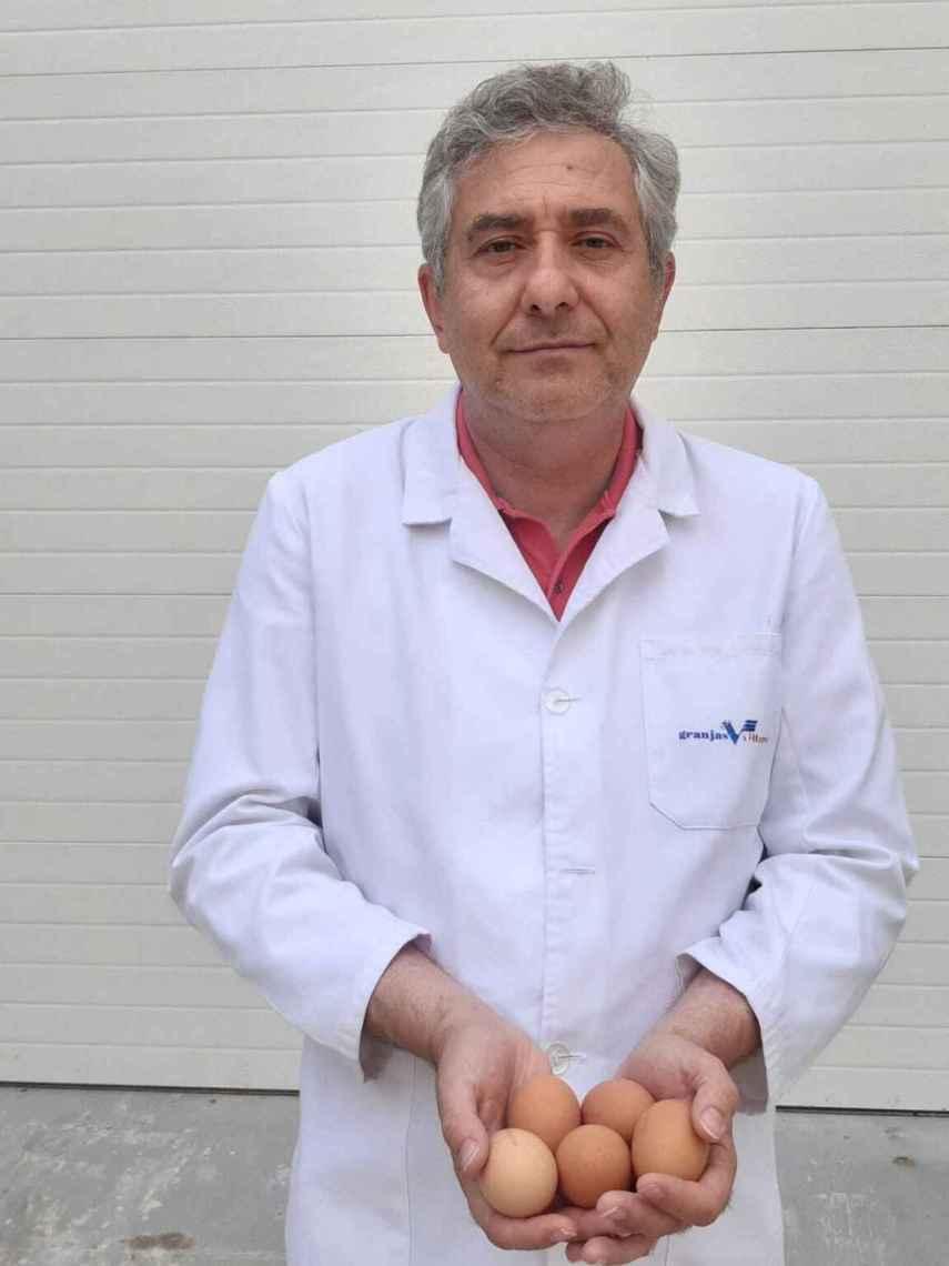Jaime Villarreal, CEO de Granjas Villarreal, en Meco (Madrid).