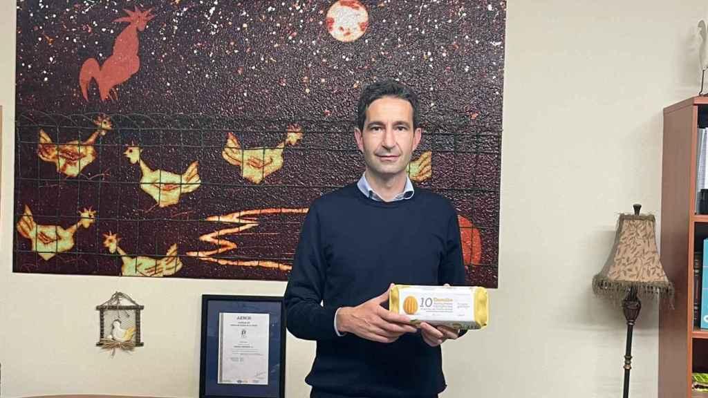 Alejandro Campos, gerente de la Granja Avícola Tratante en Dozón (Pontevedra).