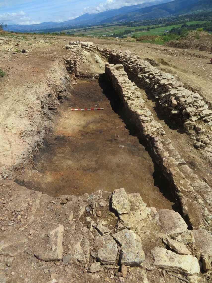 Imagen del llamado edificio D de Baltarga durante su excavación.