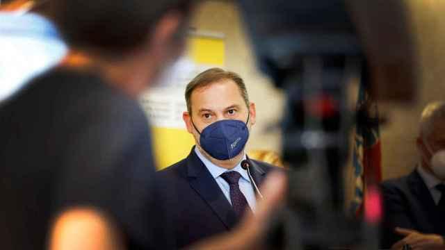 El ministro Ábalos, en su visita a Alicante este viernes.
