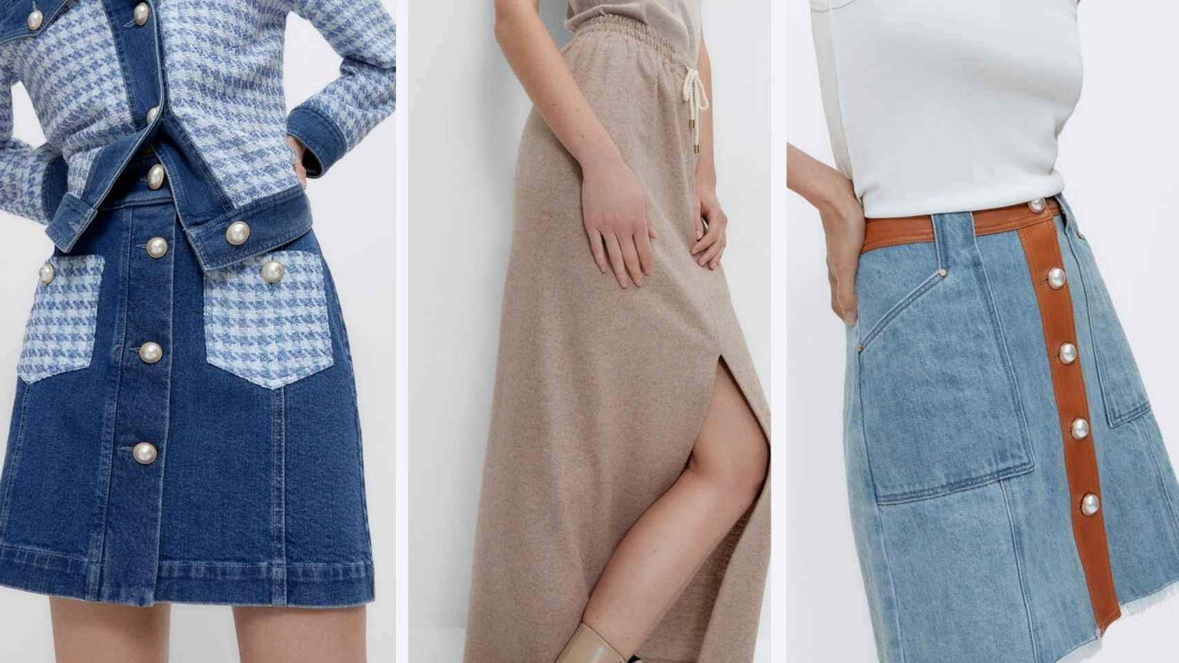 Del estilo 'denim' al 'sport': las faldas de Uterqüe que conquistarán tus 'looks'