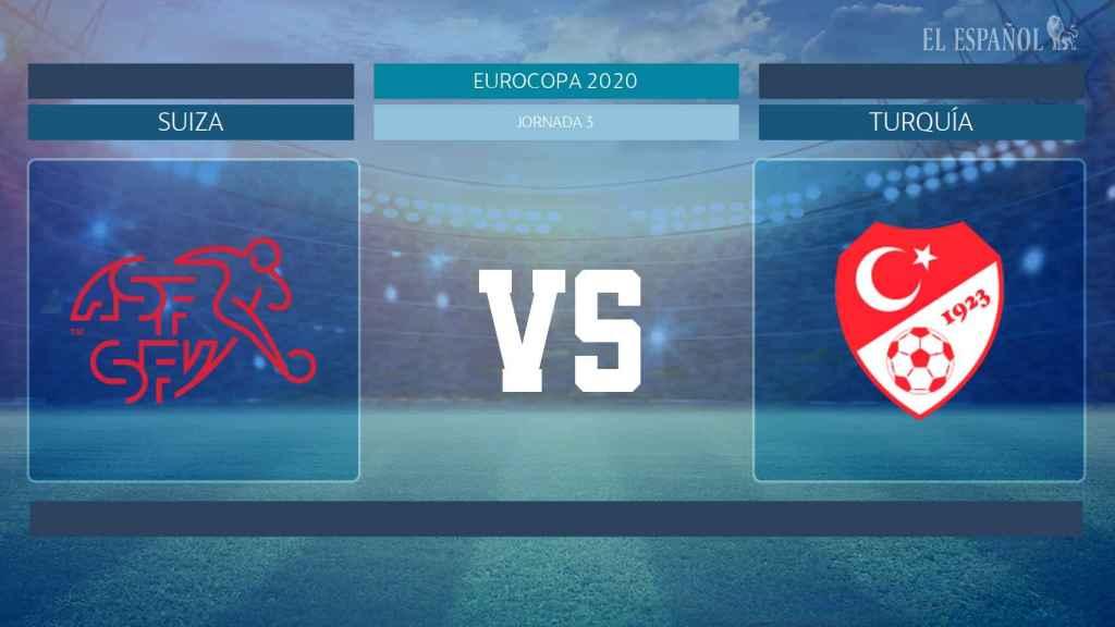 Horario internacional y dónde ver el Suiza - Turquía de la Eurocopa 2020