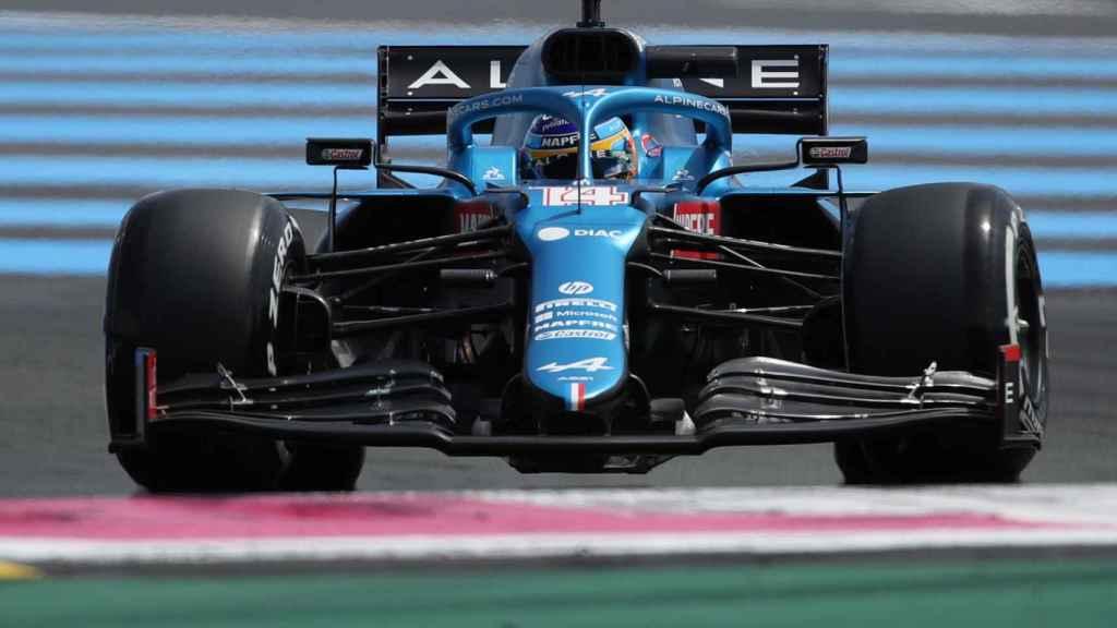 Fernando Alonso en el circuito Paul Ricard en el GP de Francia