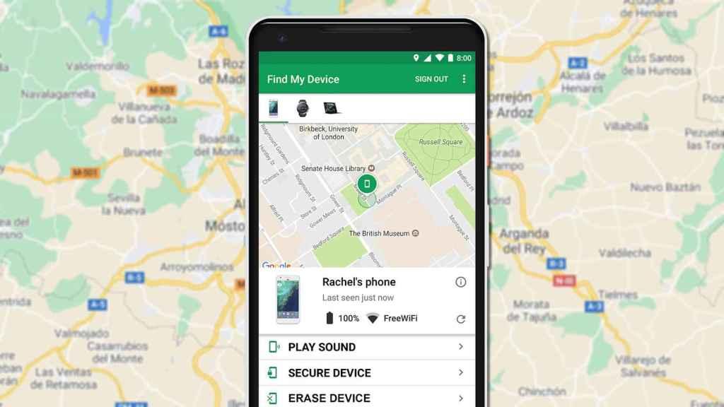 Los móviles Android tendrían su versión de 'Busca mi iPhone' de Apple para dispositivos perdidos
