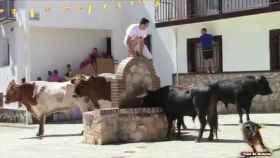 Imagen de archivo de un encierro taurino