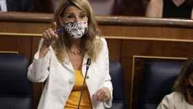 Yolanda Díaz, vicepresidenta de Trabajo y Economía Social, en el Congreso.
