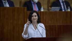 Isabel Díaz Ayuso, presidenta de la Comunidad de Madrid, en la Asamblea.