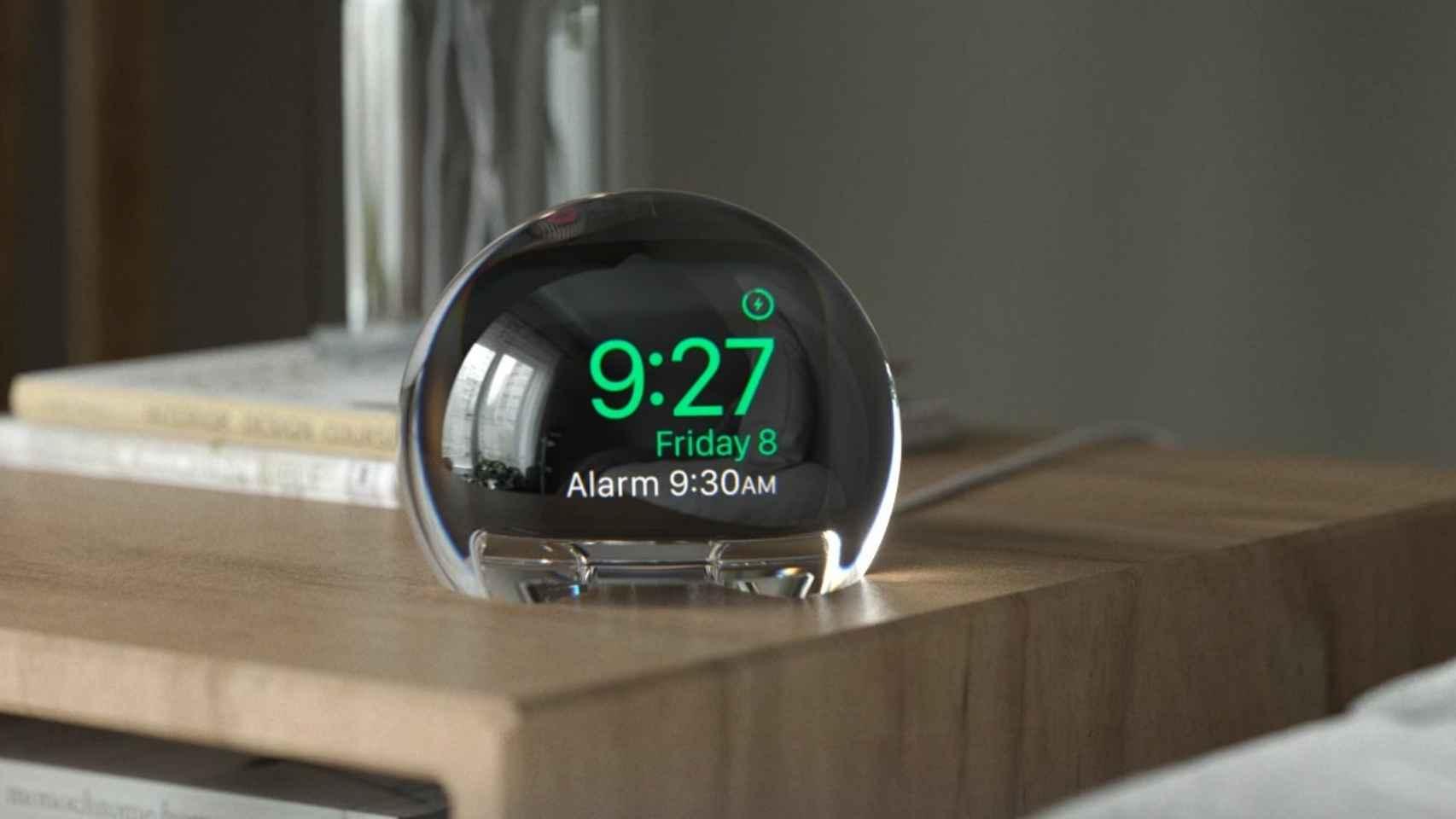 Esta base convierte al Apple Watch en un reloj despertador.